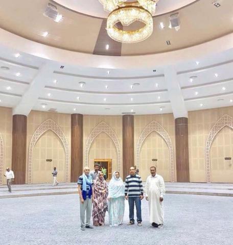 ولد عبد العزيز يتفقد قصر المؤتمرات الجديد