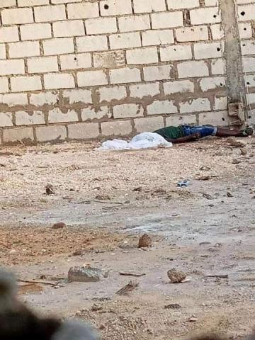 صورة الضحية في مكان الحادثة