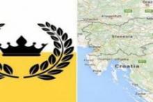 علم و موقع الدولة على الخريطة