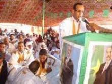 سعادة القنصل الدمان ولد همر وهو في مهرجان سابق دعما للرئيس محمد ولد عبدالعزيز