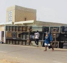 صورة الشاحنة التي سقطت قبل يومين