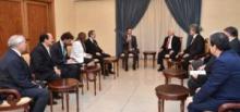 الوفد البرلماني التركي في إجتماعه مع الأسد