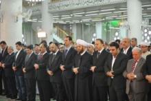 بشار في تطاهرة دينية سابقة